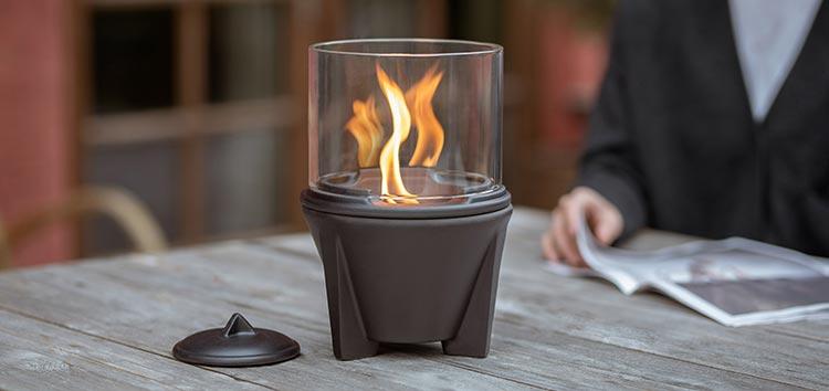 Outdoor CeraLava mit Lichtglas
